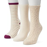 Women's SONOMA Goods for Life™ 3-pk. Nude Dot Mix Crew Socks