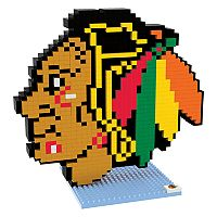 Forever Collectibles Chicago Blackhawks BRXLZ 3D Logo Puzzle Set