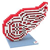 Forever Collectibles Detroit Red Wings BRXLZ 3D Logo Puzzle Set
