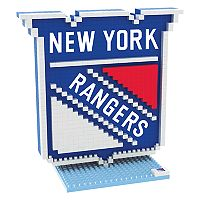 Forever Collectibles New York Rangers BRXLZ 3D Logo Puzzle Set