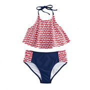 Girls 7-16 SO® Patriotic 2 pc Bikini Swimsuit Set