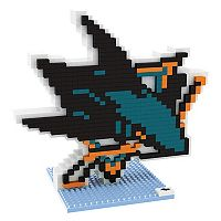 Forever Collectibles San Jose Sharks BRXLZ 3D Logo Puzzle Set