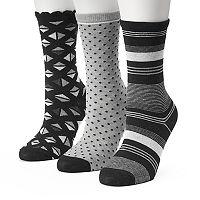 Women's SONOMA Goods for Life™ 3 pkGeometric Crew Socks