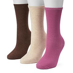 Women's SONOMA Goods for Life™ 3-pk. Warm Flat Knit Crew Socks