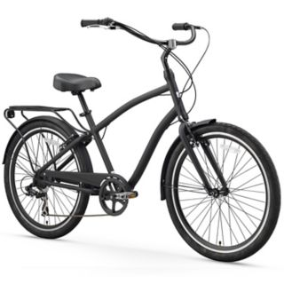 Men's sixthreezero EVRYjourney 26-Inch Matte Black Sport Hybrid Cruiser Bike