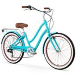 Women's sixthreezero EVRYjourney Teal 26-Inch Step-Through Touring Hybrid Bike