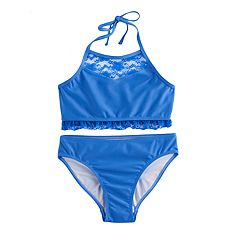 Girls 7-16 SO® 2-pc Blue Bikini Swimsuit Set