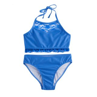 Girls 7-16 SO® 2-pc Blue Bikini Swimsuit Set
