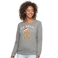 Junior's Fifth Sun Oh Snap! Gingerbread Pullover Sweatshirt