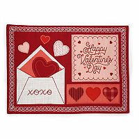 Celebrate Valentine's Day Together Faux Applique Placemat