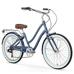 Women's sixthreezero EVRYjourney Navy 26-Inch Step-Through Touring Hybrid Bike