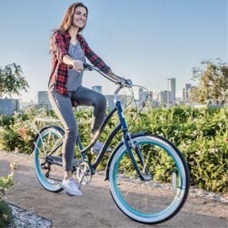 Women's sixthreezero EVRYjourney Navy 26-Inch Step-Through Touring Hybrid Bike