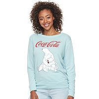 Junior's Fifth Sun Coca-Cola Polar Bears Crewneck Sweatshirt
