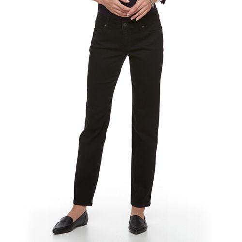 Women's Croft & Barrow® Tummy-Slimming Straight-Leg Denim Jeans