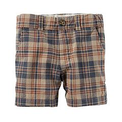 Baby Boy Carter's Plaid Flat Front Shorts