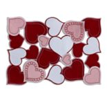 Celebrate Valentine's Day Together Hearts Cutout Placemat