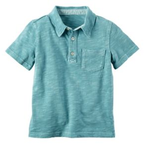 Baby Boy Carter's Slubbed 3-Button Polo