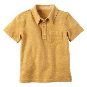 Baby Boy Carter's Slubbed 3-Button Polo