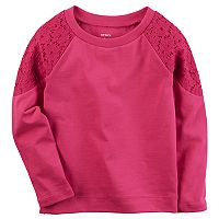 Girls 4-8 Carter's Lace Shoulder Tee