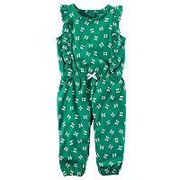 Baby Girl Carter's Flutter-Sleeved Jumpsuit