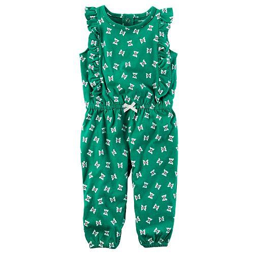 Baby Girl Carter's Flutter-Sleeved Jumpsuit