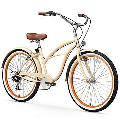 Women's sixthreezero Scholar 26-Inch Seven Speed Beach Cruiser Bike
