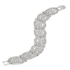 Single Clasp Double Weave Rhinestone Bracelet