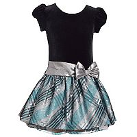 Girls 4-6x Jessica Ann Short Sleeve Velvet Dress