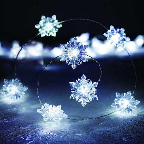 Snowflake Christmas Lights.Manor Lane 10 Ft Snowflake String Lights
