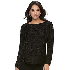 Women's Jennifer Lopez Sequin Boucle Top