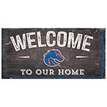 Boise State Broncos Welcome Sign Wall Art