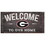 Georgia Bulldogs Welcome Sign Wall Art