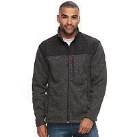 Men's Free Country Colorblock Quilted Sweater Knit Jacket