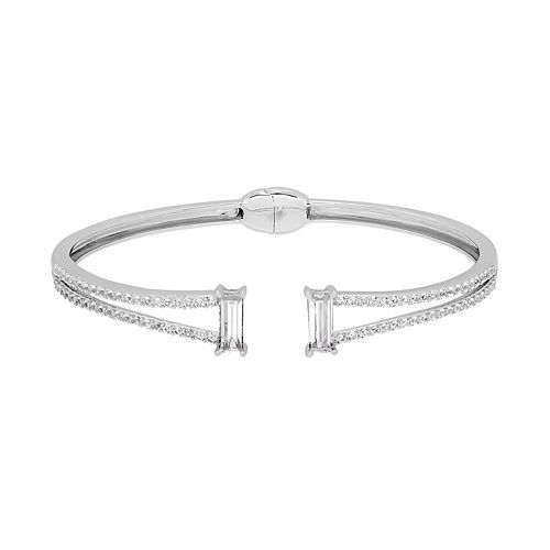 Simply Vera Vera Wang Sterling Silver Lab-Created White Sapphire Open Bangle Bracelet
