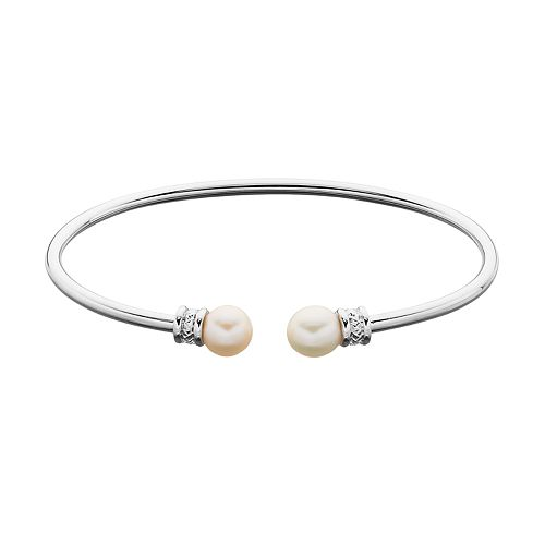 Simply Vera Vera Wang Sterling Silver Freshwater Cultured Pearl Cuff Bracelet