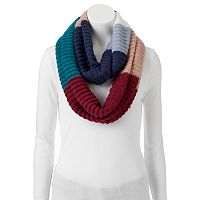 Cuddl Duds Colorblock Purl Stitch Infinity Scarf