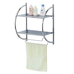 Home Basics 2-Tier Bathroom Wall Shelf
