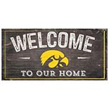 Iowa Hawkeyes Welcome Sign Wall Art
