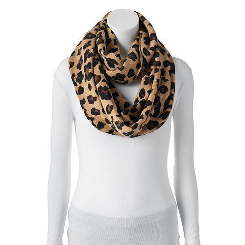 Apt. 9® Leopard Print Knit Infinity Scarf