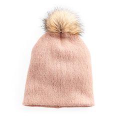 Women's Apt. 9® Solid Brushed Knit Pom Pom Beanie