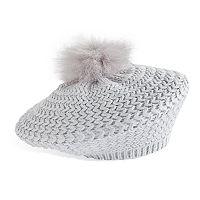 Women's Apt. 9® Faux Fur Pom Pom Knit Beret
