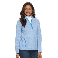 Women's Croft & Barrow® 1/4 Zip Fleece Sweatshirt