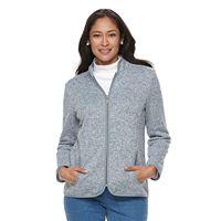 Women's Croft & Barrow® Zippered Fleece Jacket