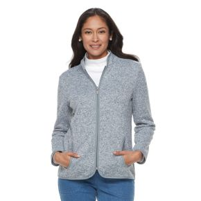 Women's Croft & Barrow® Zippered Fleece Jacket