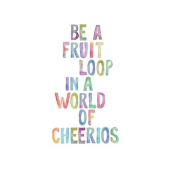 "Art.com ""Be A Fruit Loop"" Wall Art Print"