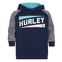 Boys 4-7 Hurley Raglan Fleece Pullover Hoodie