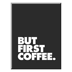 Art.com 'But First Coffee' Mounted Wall Art Print