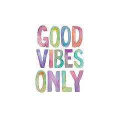 Art.com 'Good Vibes Only' Watercolor Wall Art Print