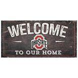 Ohio State Buckeyes Welcome Sign Wall Art