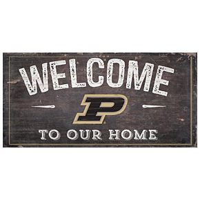 Purdue Boilermakers Welcome Sign Wall Art